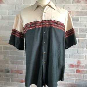 Roper Pearl Snap Native Design Button Front Shirt
